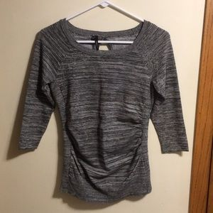 Maurices 3/4 sleeve gray marled sweater